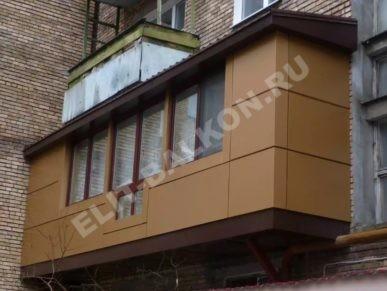 Внешняя отделка балконов и лоджий в Москве