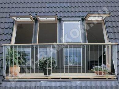 1 otdelka balkonov i lodzhij vneshnyaya obshivka metallocherepitsa 2 387x291 - Внешняя отделка балконов и лоджий в Москве