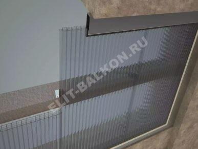 1 vneshnyaya obshivka polikarbonatom sotovym 7 387x291 - Внешняя отделка балконов и лоджий в Москве
