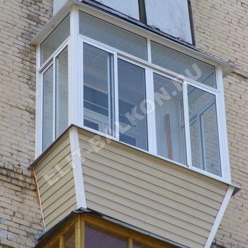 Внешняя отделка балкона сайдингом и профнастилом