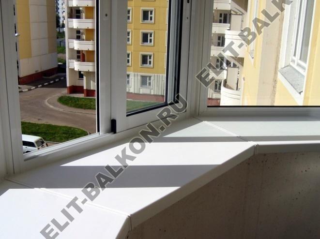 Остекление балкона с алюминием