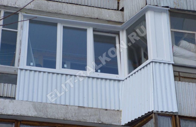 3 vneshnyaya otdelka balkona lodzhii profnastilom - Внешняя отделка балконов и лоджий в Москве