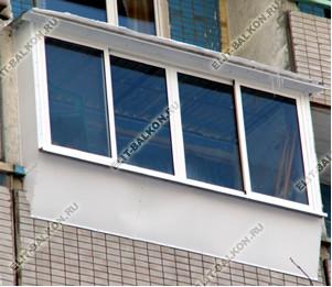 Фото остекления балконов и лоджий в москве - вынос балкона к.