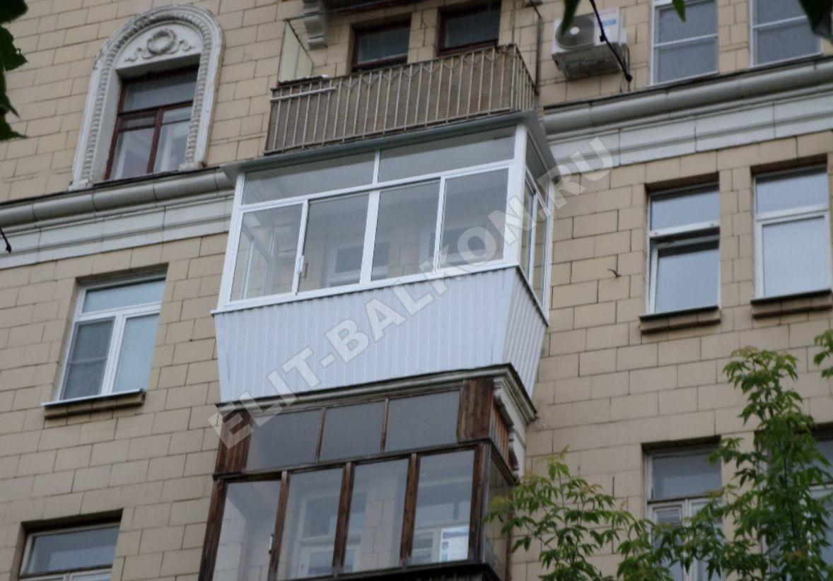 5 vneshnyaya otdelka balkona lodzhii profnastilom - Внешняя отделка балконов и лоджий в Москве