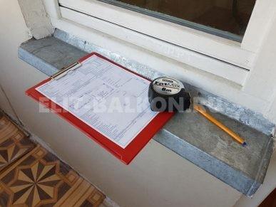 Etap raboty zamer na obekte 2 387x291 - Ремонт балконов под ключ