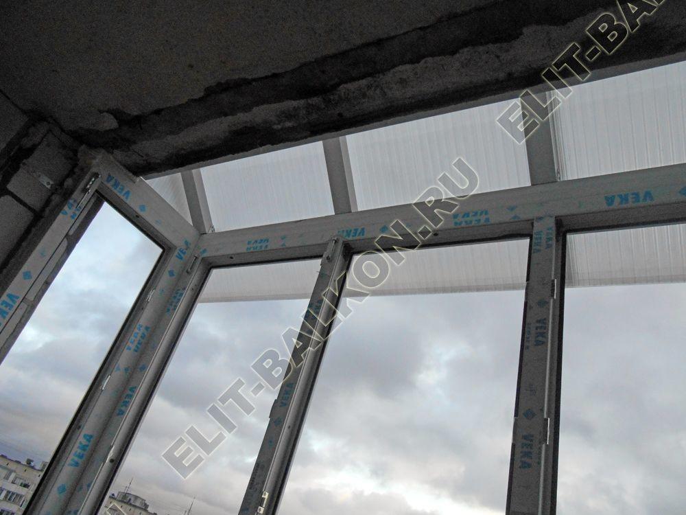 Krysha iz polikarbonata na balkone 10 - Фото крыши на балкон последнего этажа в Москве - Крыша на балкон