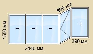 Остекление балкона в доме серии п 44, остекление балконов и .