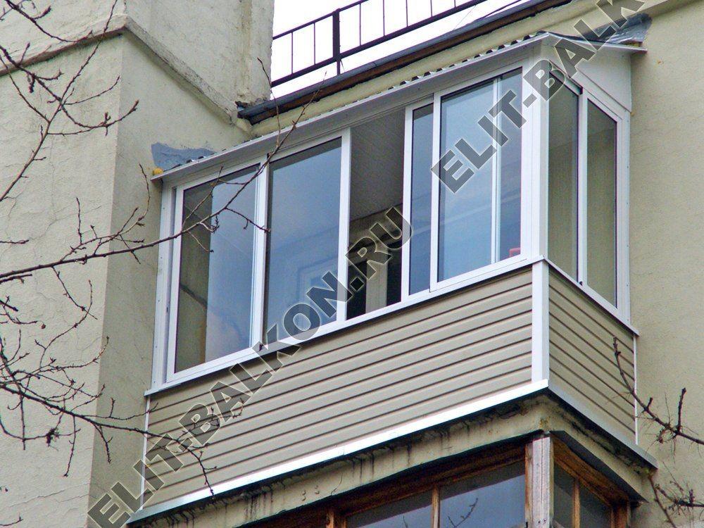 Балконы под ключ с крышей