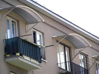 kozyirek nad balkonom - Козырьки и навесы для балконов