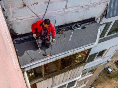 krovlya balkonov i lodzhij 387x291 - Ремонт крыши балконов и лоджий в Москве