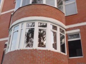 Остекление круглого балкона и лоджии