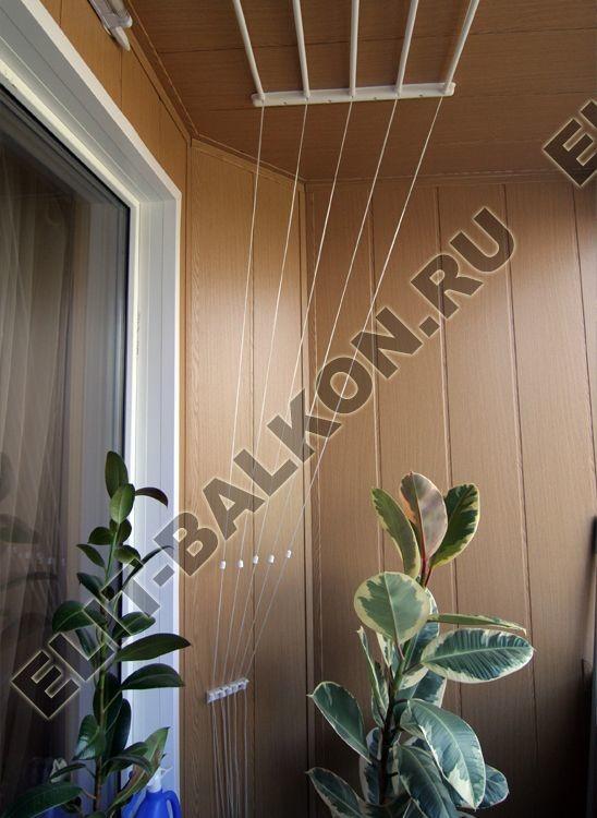 Отделка балкона МДФ стеновыми панелями