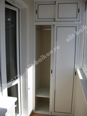 Фото шкафов на балконы из алюминия (Provedal)