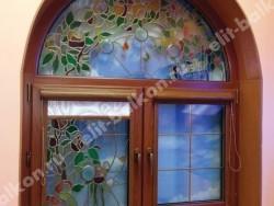 Галерея витражей в окнах ПВХ