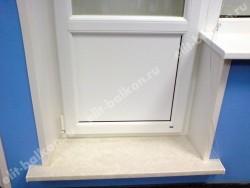Подоконник и порог - Подоконник и порог на балконный блок