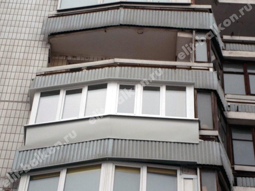 Примеры отделки балкона лодочки