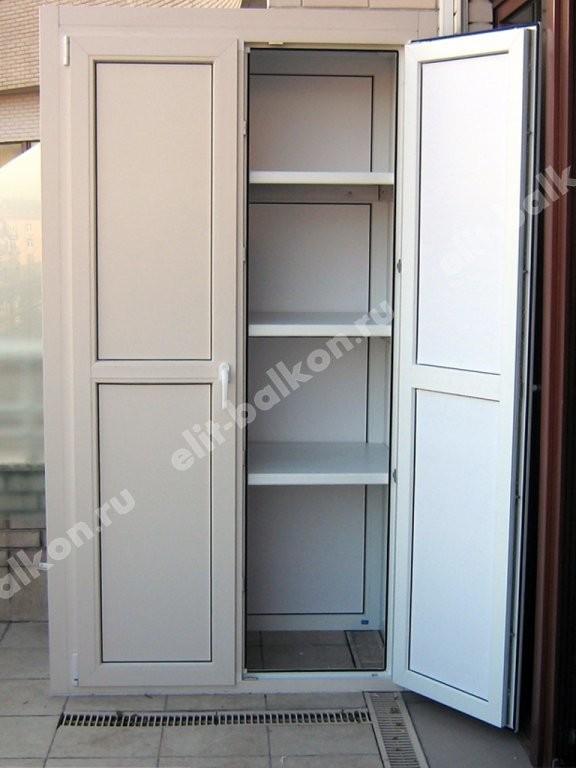 Шкаф на балкон ПВХ