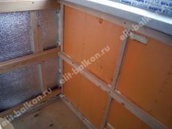 Фото утепления балконов и лоджий в Москве - Утепление пенофолом и пеноплексом