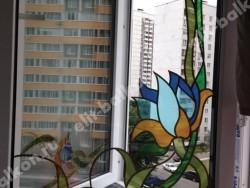 Галерея витражей в окнах ПВХ - Витражи в окнах ПВХ