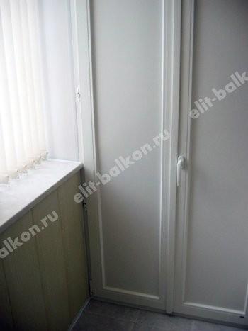 ПВХ распашной - Шкаф на балкон ПВХ распашной сэндвич