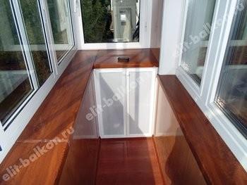 phoca thumb l 7 250x188 - Фото готового балкона с выносом. Вид внутри.
