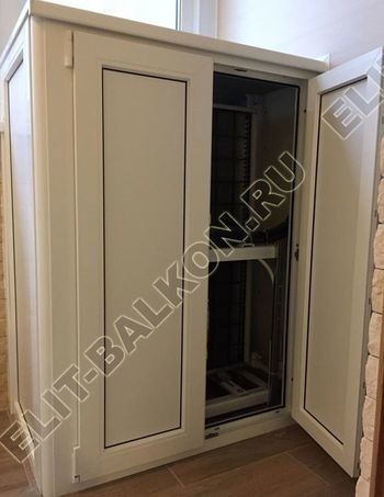 shkaf elinbalkon5 387x291 - ПВХ распашной шкаф на балкон