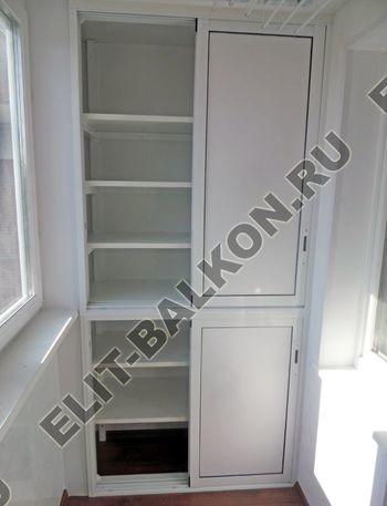 Фото шкафов на балконы из алюминия Проведал (Provedal) - Алюминиевый раздвижной проведал