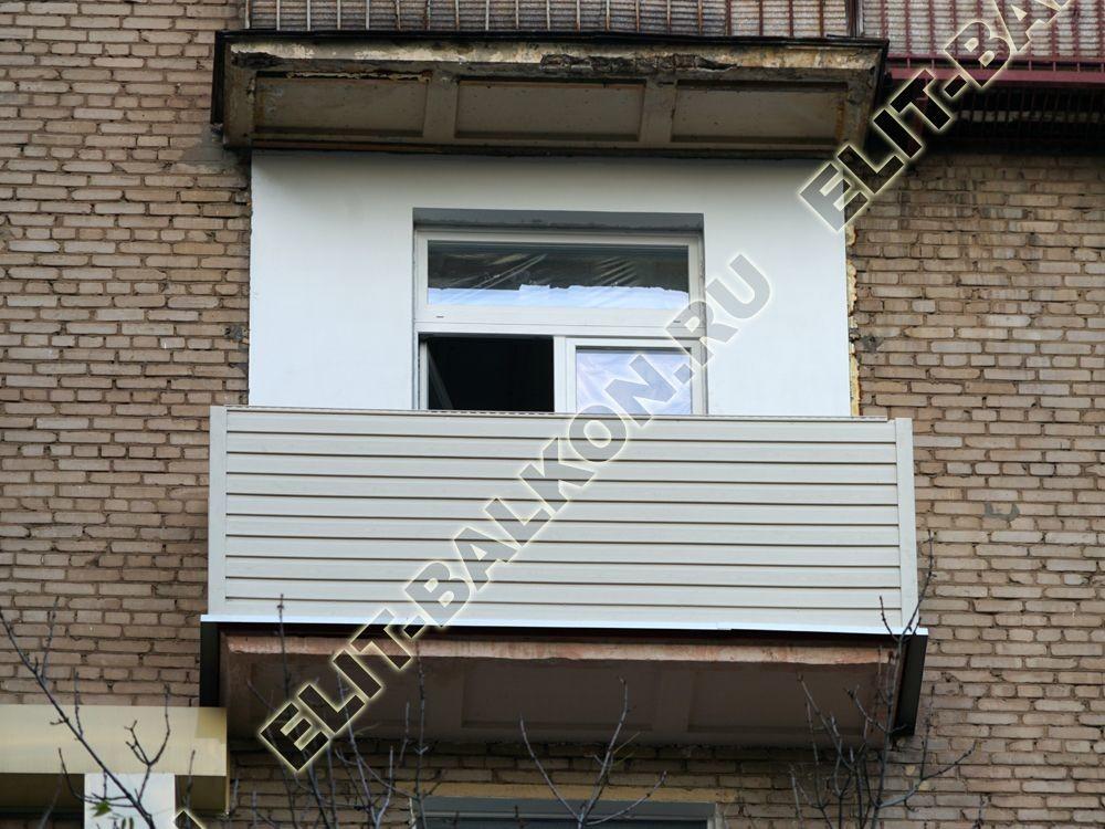 ukreplenie balkona novyj parapet vneshnjaja otdelka 9 - Фото ремонта и укрепления балконов и лоджий