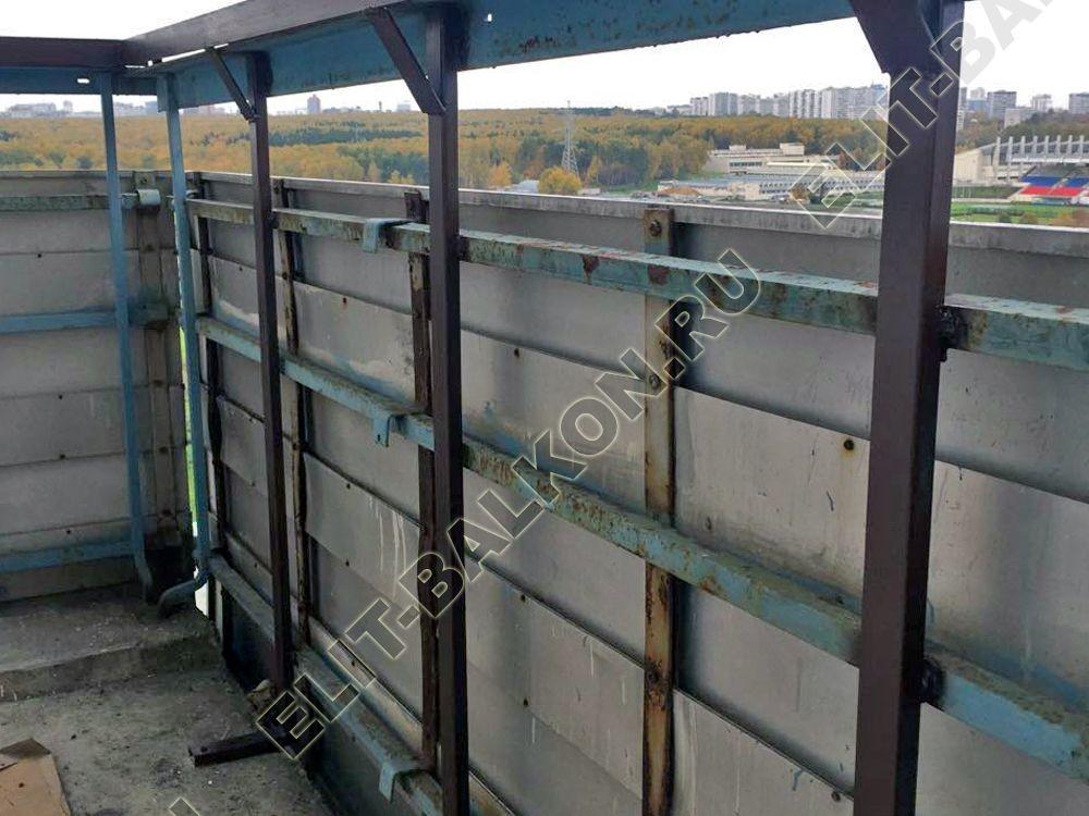 ukreplenie balkona stojki s vynosom vnutr na 100mm 16 - Фото ремонта и укрепления балконов и лоджий