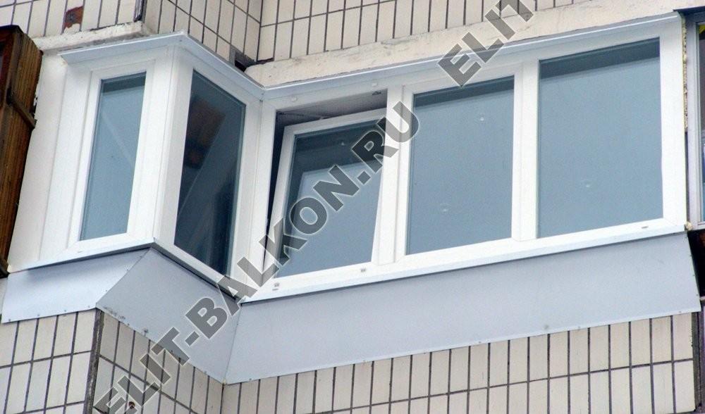 Остекление балкона с выносом в Москве