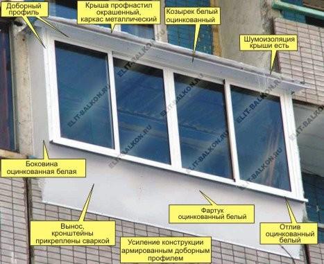 vinos8 - Остекление балкона с выносом в Москве