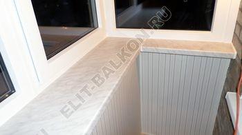 Фото готового балкона с выносом. Вид внутри.