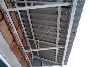 Крыша балкона без остекления
