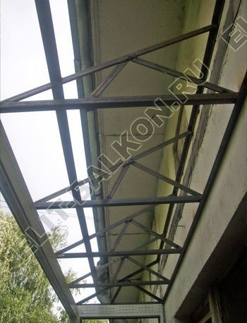 Каркас крыши балкона