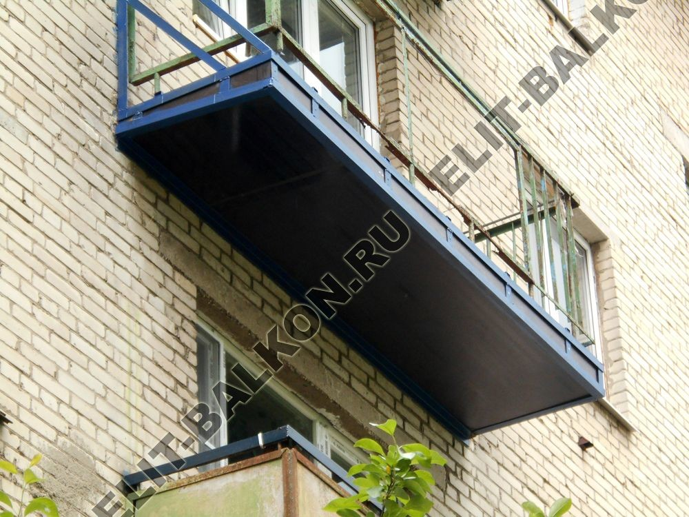 """Укрепление балконной плиты. фото одного балкона. """"элит-балко."""