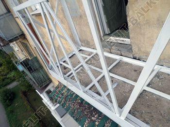 Монтаж нового парапета балкона. Фото одного балкона.
