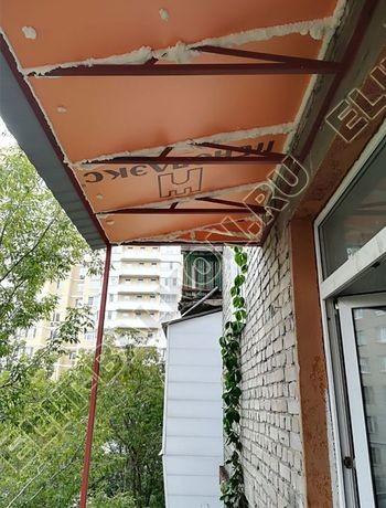 ukreplenie balkona s vynosom i falshkrovlja1 387x291 - Каркас крыши балкона