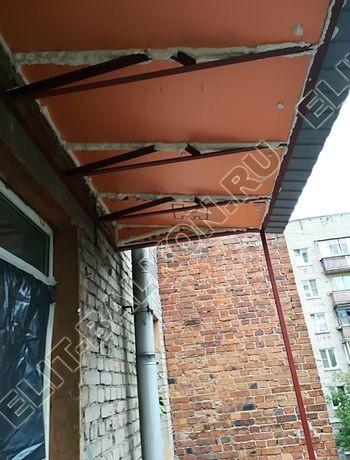 ukreplenie balkona s vynosom i falshkrovlja4 387x291 - Каркас крыши балкона