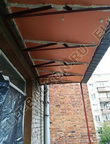 ukreplenie balkona s vynosom i falshkrovlja5 387x291 - Каркас крыши балкона