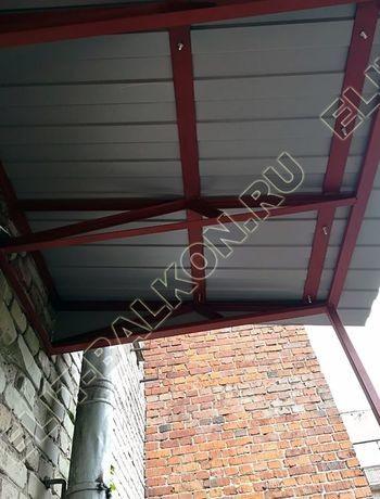ukreplenie balkona s vynosom i falshkrovlja6 387x291 - Каркас крыши балкона