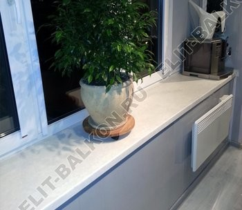 vin 2 25 250x188 - Фото готового балкона с выносом. Вид внутри.