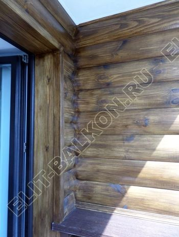 Внутренняя отделка балкона деревом