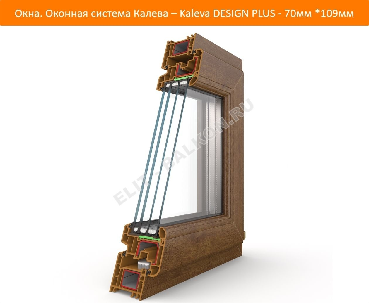 Okna. Okonnaya sistema Kaleva Kaleva DESIGN PLUS 70mm 109mm 1 1 - DESIGN PLUS – на страже вашего покоя!