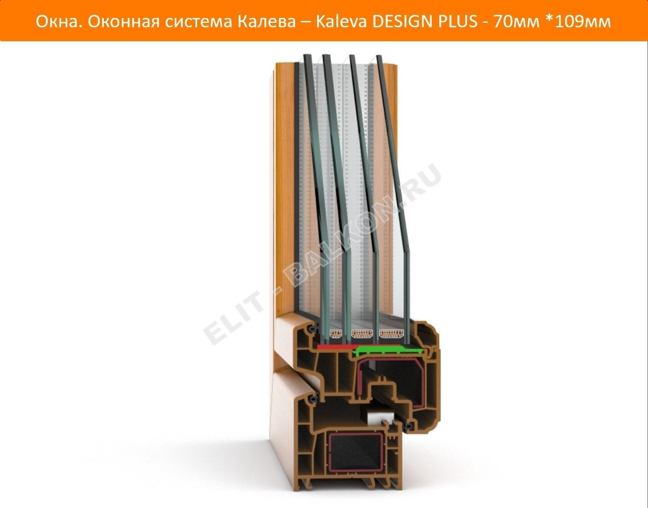 Okna. Okonnaya sistema Kaleva Kaleva DESIGN PLUS 70mm 109mm 2 1 - DESIGN PLUS – на страже вашего покоя!