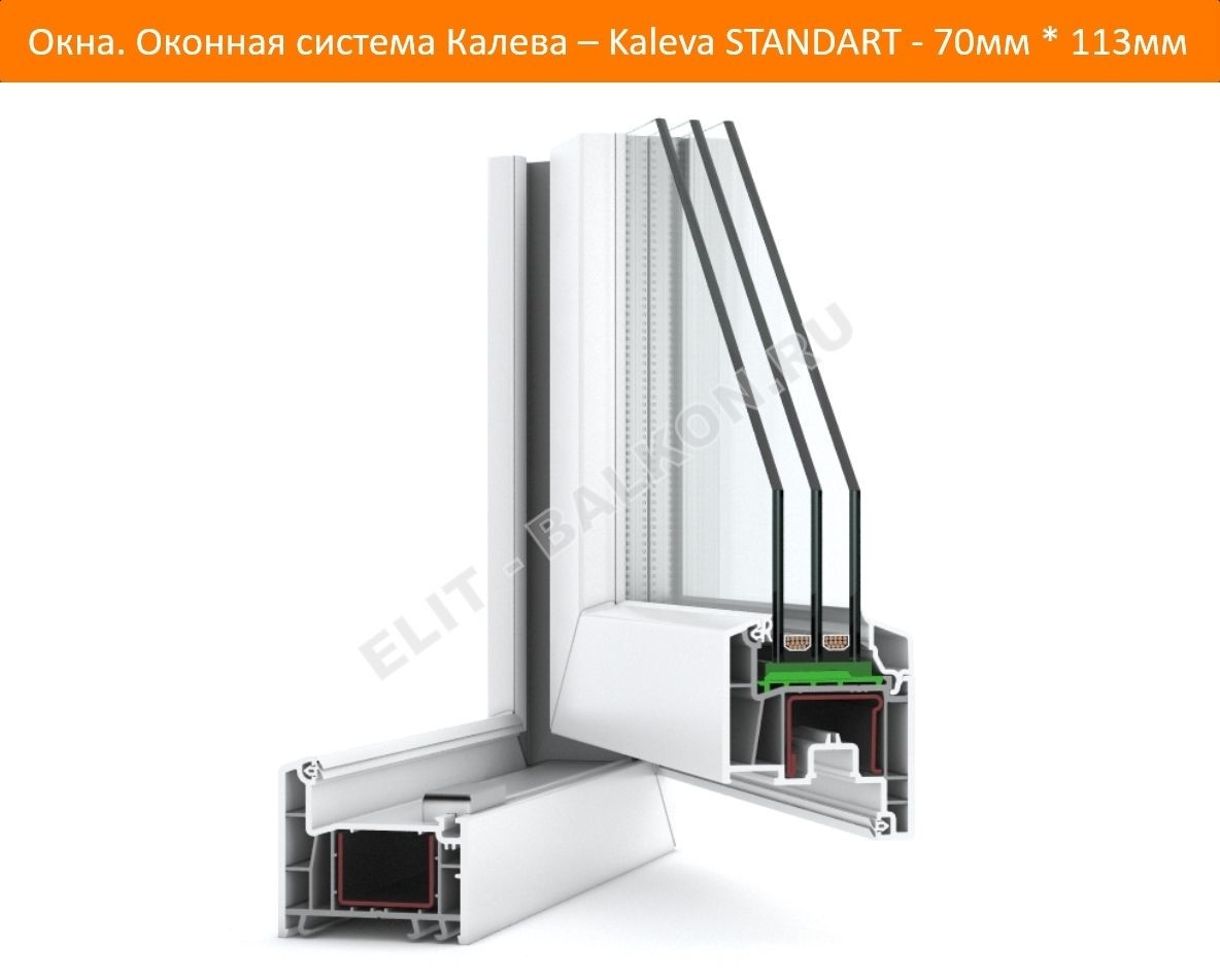 Окна Kaleva Standart – философия практичности