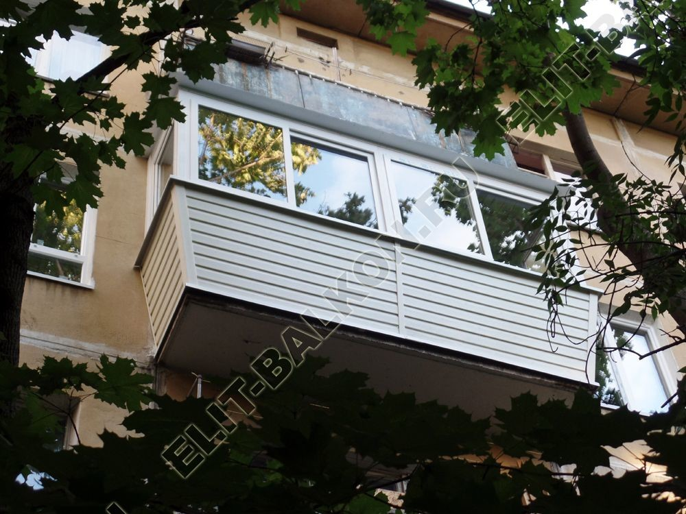 balkon 66 1 - Отделка балкона профнастилом