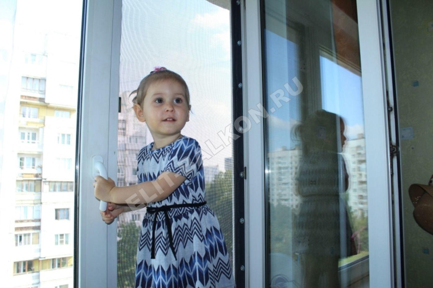 SETKA ANTIDETI NA OKNA PVH SANKT PETERBURG MOSKVA USTANOVLENA 4 1 - Фурнитура защита от детей