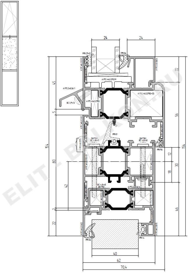 Теплый алюминиевый профиль ALUTECH  ALT W62 – разумное соотношение цены и качества