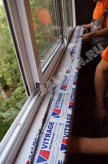Фото остекления балкона № 4. Ул. Полярная 14