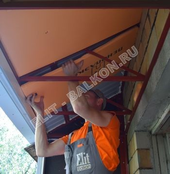 Фото остекления одного балкона. Полярная 14